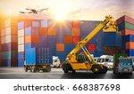 industrial container cargo...   Shutterstock . vector #668387698