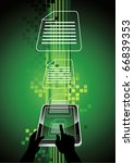 ebook reader   a new generation ... | Shutterstock .eps vector #66839353