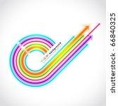 colored arrows vector | Shutterstock .eps vector #66840325