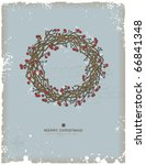 hand drawn christmas wreath... | Shutterstock .eps vector #66841348