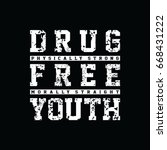straight edge   drug free youth ...   Shutterstock .eps vector #668431222
