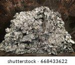 aluminum alloy dross in steel... | Shutterstock . vector #668433622