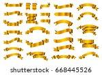 vector ribbon banners.set of... | Shutterstock .eps vector #668445526