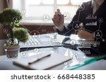 people network. organizational... | Shutterstock . vector #668448385