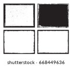 set of grunge frames.distress... | Shutterstock .eps vector #668449636