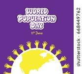creative world population day...   Shutterstock .eps vector #668449762