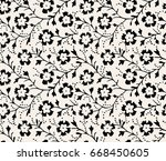vector seamless dry floral... | Shutterstock .eps vector #668450605