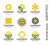 sun energy logo templates and... | Shutterstock .eps vector #668457022