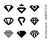 vector diamonds  brilliants ... | Shutterstock .eps vector #668457115