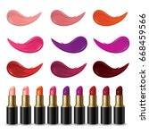 set of lipsticks product and