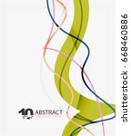 vector wave lines abstract... | Shutterstock .eps vector #668460886