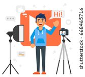 vector flat style illustration... | Shutterstock .eps vector #668465716