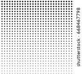 halftone texture. vector dot ... | Shutterstock .eps vector #668467798