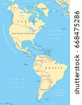 the americas  north and south... | Shutterstock .eps vector #668475286
