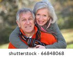 senior couple having fun in... | Shutterstock . vector #66848068