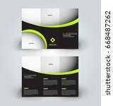 brochure template. business... | Shutterstock .eps vector #668487262