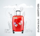 Color Red Plastic Travel Bag...