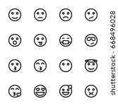 emoticon icon set | Shutterstock .eps vector #668496028