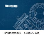 template of blue background... | Shutterstock .eps vector #668500135