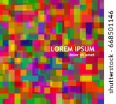 background mosaic of colored... | Shutterstock .eps vector #668501146