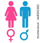 male and female sex symbols.... | Shutterstock . vector #668502382
