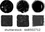 grunge post stamps collection ...   Shutterstock .eps vector #668502712