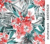 Exotic Flowers Seamless Pattern....