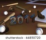 Постер, плакат: Some baseball batts balls