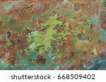 Aged Copper Plate Texture With...