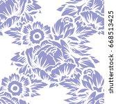 abstract elegance seamless... | Shutterstock .eps vector #668513425