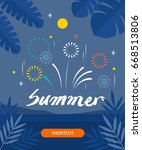 summer template illustration | Shutterstock .eps vector #668513806