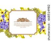 romantic invitation. wedding ...   Shutterstock .eps vector #668514982