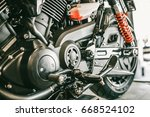 close up side view of the... | Shutterstock . vector #668524102