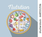 healthy food to fitness... | Shutterstock .eps vector #668531536