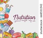 food natural nutricion... | Shutterstock .eps vector #668531542