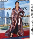 "Small photo of HOLLYWOOD - JUN 28: Selenis Levya arrives to the ""Spider-Man Homecoming"" World Premiere on June 28, 2017 in Hollywood, CA"