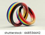 3d illustration  wedding rings...   Shutterstock . vector #668536642