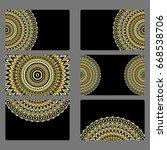 set business card. vector... | Shutterstock .eps vector #668538706