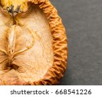 Slice Of Withered Apple On A...