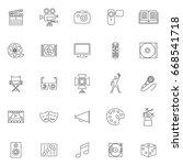 twenty five outline set art... | Shutterstock .eps vector #668541718
