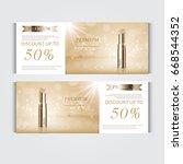 gift voucher hydrating facial... | Shutterstock .eps vector #668544352
