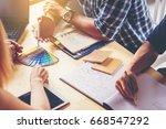 business people meeting. choose ... | Shutterstock . vector #668547292