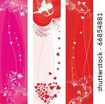 st.valentine's day banners set | Shutterstock .eps vector #66854881