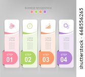 infographic template of four... | Shutterstock .eps vector #668556265