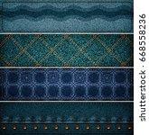 set of jeans banners 3d... | Shutterstock . vector #668558236