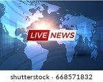 news vector background ... | Shutterstock .eps vector #668571832