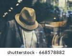 display view of a clothing store | Shutterstock . vector #668578882