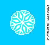 snowflake icon  isolated...
