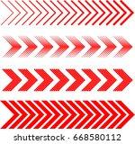sideways set . linear signs... | Shutterstock .eps vector #668580112