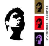 silhouette of face. stranger. | Shutterstock .eps vector #66858466